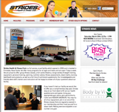 Our web design firm created Strides website